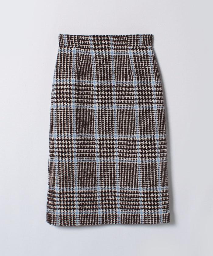 ループチェックツイードAラインスカート